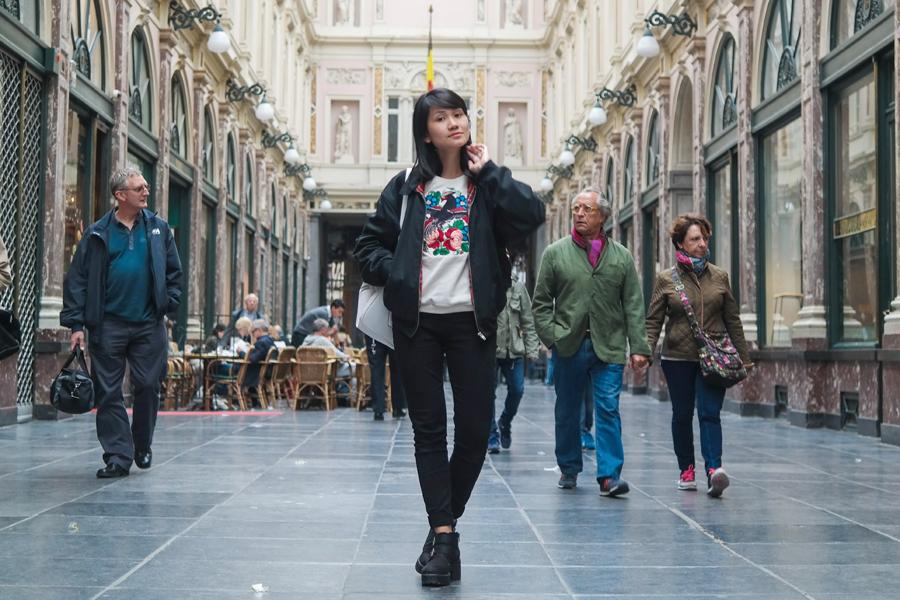 Vintage jacket - OMSK sweater - Bershka pants - Vagabond shoes
